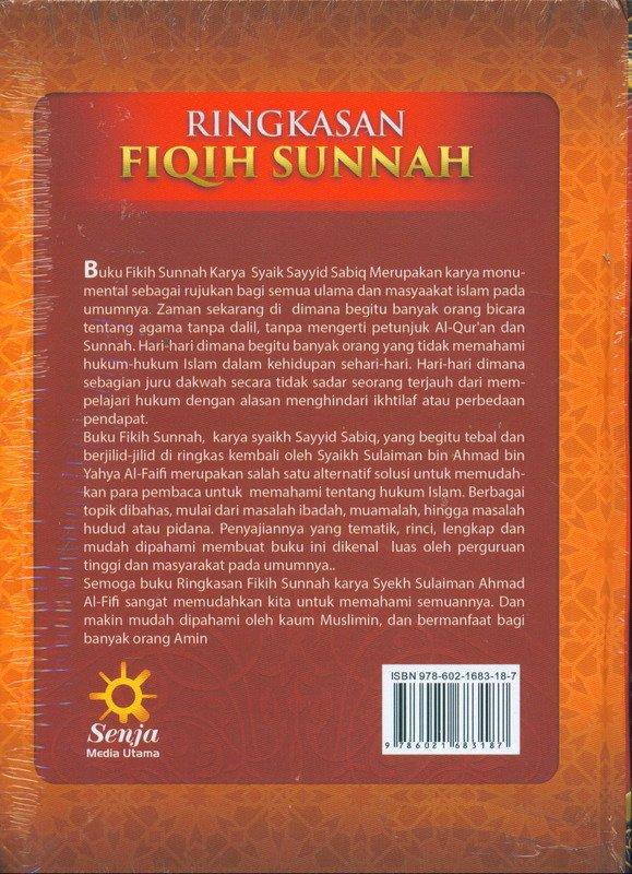 Cover Belakang Buku Sulaiman AL-Faifi RINGKASAN FIQIH SUNNAH (HC)