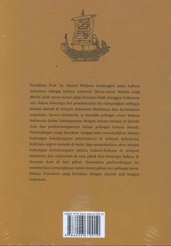 Cover Belakang Buku Asal Bangsa dan Bahasa Nusantara
