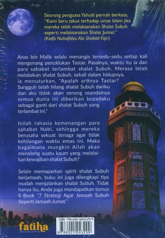 Cover Belakang Buku Berkah Shalat Subuh Berjamaah