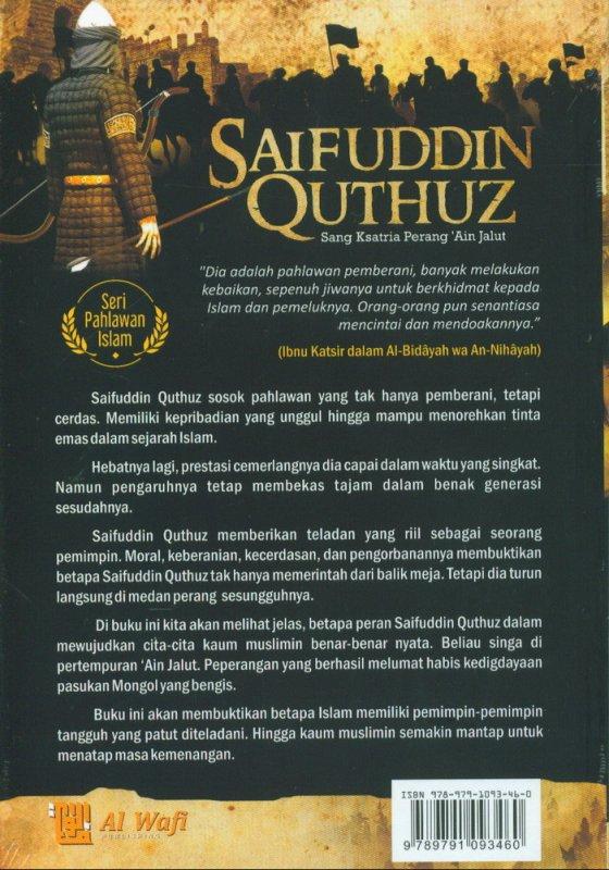 Cover Belakang Buku Saifuddin Quthuz : Sang Ksatria Perang Ain Jalut