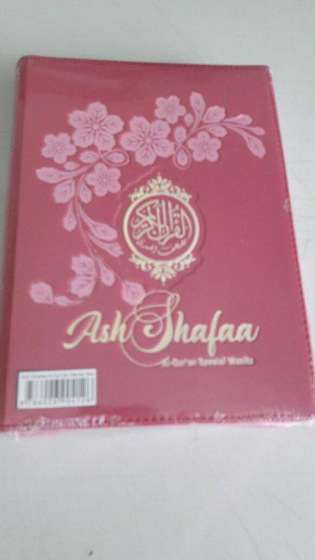 Cover Buku Ash Shafaa Al-Quran Spesial Wanita (Resleting)