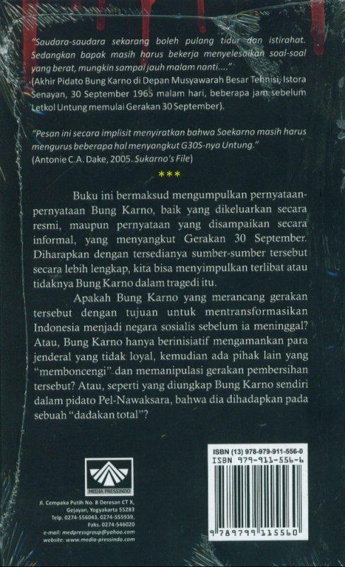 Cover Belakang Buku Bung Karno, Nawaksara Dan G30S