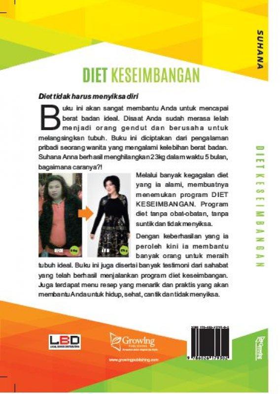 Cover Belakang Buku Diet Keseimbangan