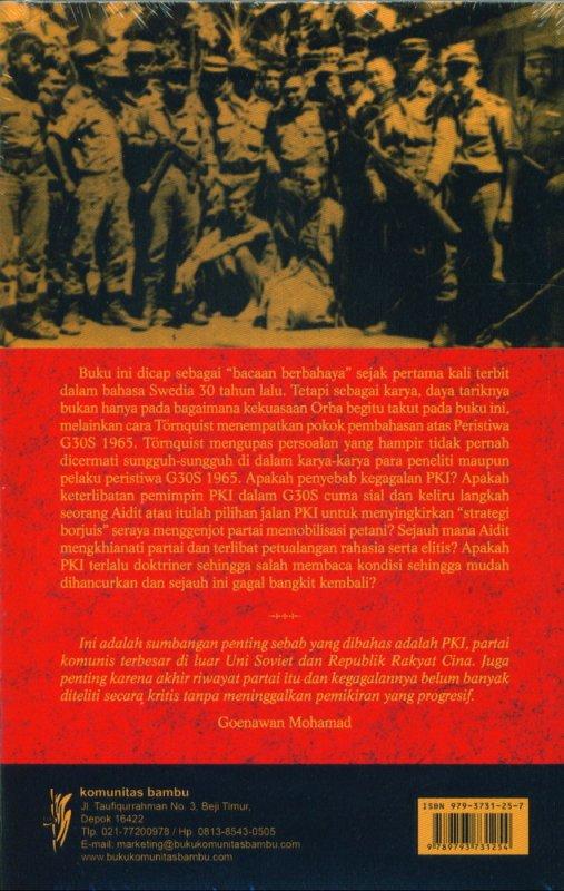 Cover Belakang Buku Penghancuran PKI: partai terbesar di luar Uni Soviet dan RRC