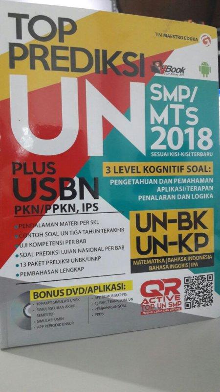 Cover Buku TOP PREDIKSI UN SMP/MTS 2018 PLUS USBN