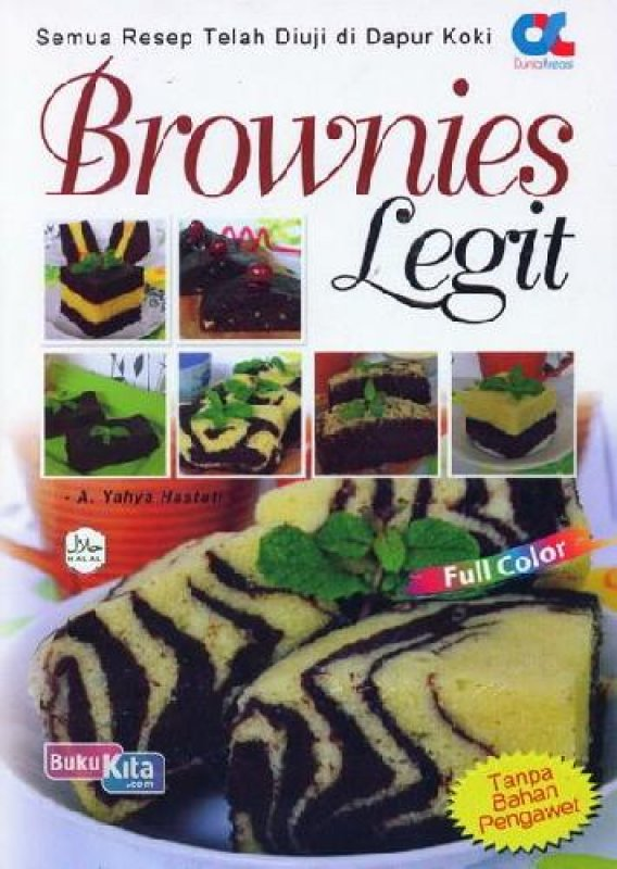 Cover Buku Brownies Legit (full color) (BK)