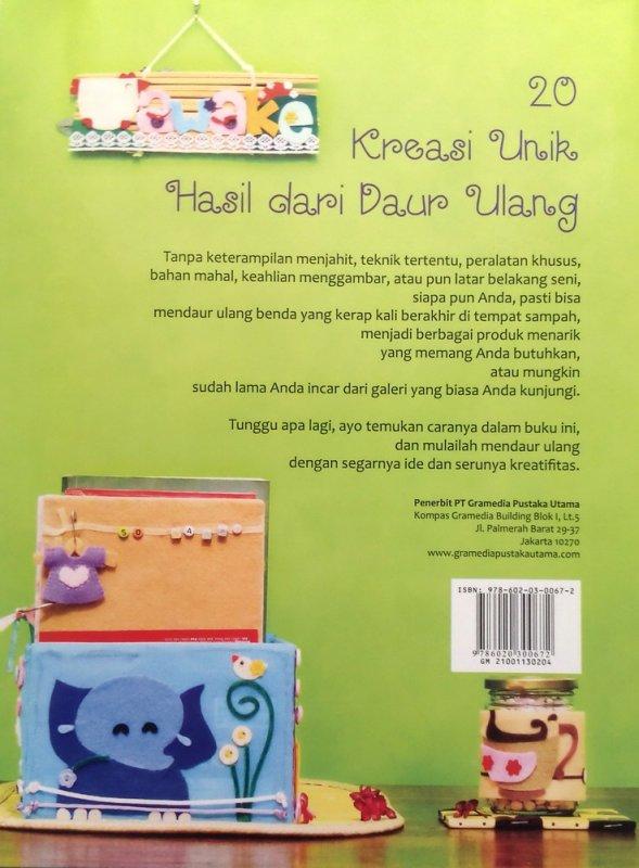 Cover Belakang Buku 20 Kreasi Unik Hasil dari Daur Ulang (Disc 50%)