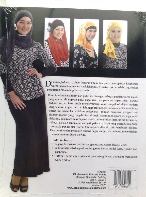 Cover Belakang Buku Gaya Black & white jilbab (Disc 50%)