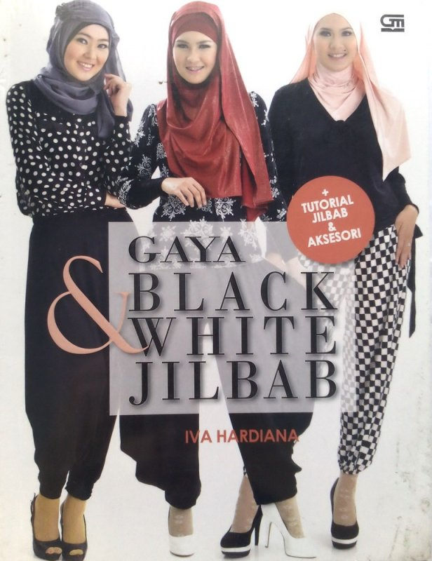 Cover Buku Gaya Black & white jilbab (Disc 50%)