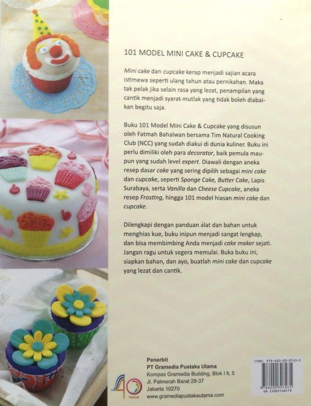 Cover Belakang Buku 101 Model Mini Cake & Cupcake