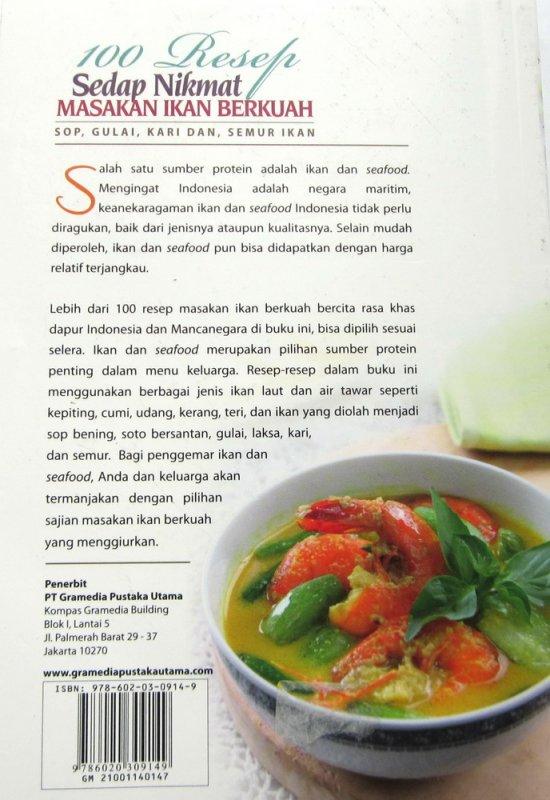 Cover Belakang Buku 100 Resep Sedap Nikmat Masakan Ikan Berkuah (Disc 50%)