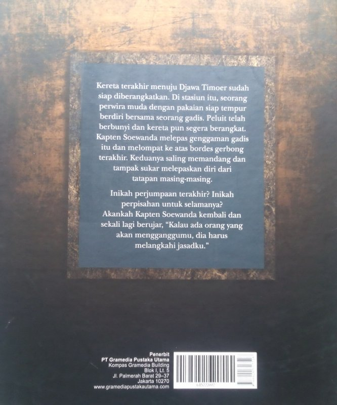 Cover Belakang Buku Kereta Terakhir: Memoar Gadis Djoang (Disc 50%)