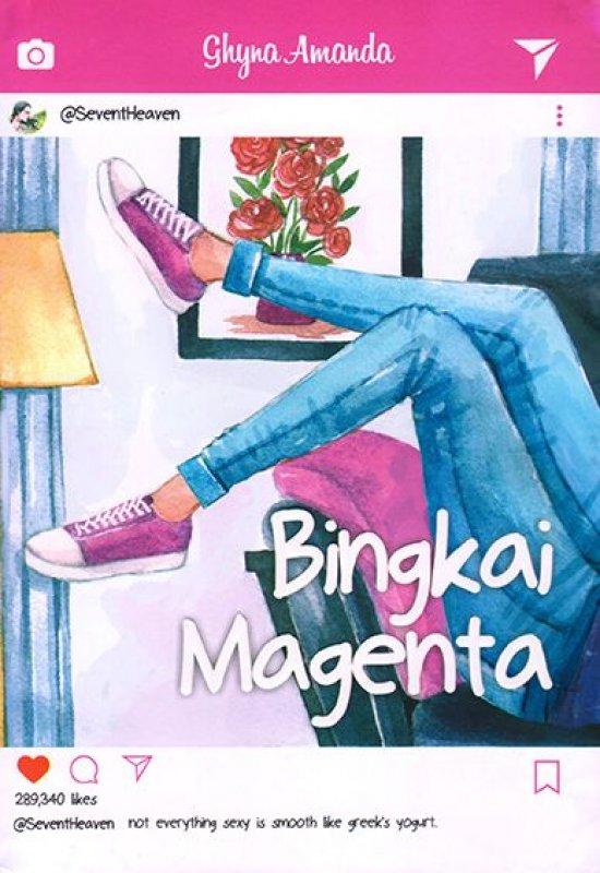 Cover Buku Bingkai Magenta