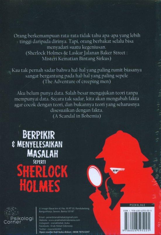 Cover Belakang Buku Berpikir & Menyelesaikan Masalah seperti Sherlock Holmes