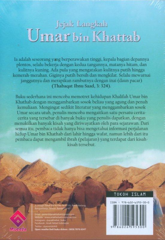 Cover Belakang Buku Jejak Langkah Umar bin Khattab