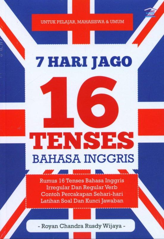 Cover Buku 7 Hari Jago 16 Tenses Bahasa Inggris
