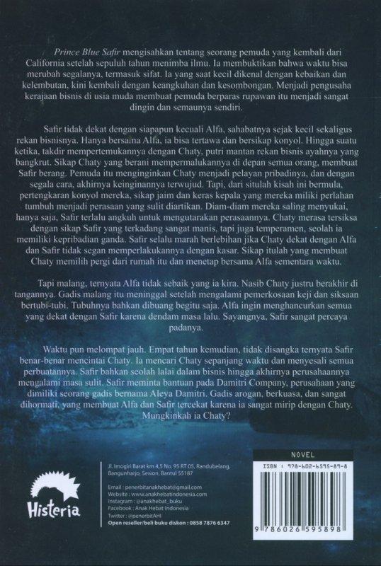 Cover Belakang Buku Prince Blue Safir