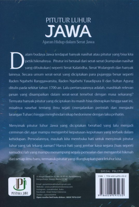 Cover Belakang Buku Pitutur Luhur Jawa (Ajaran Hidup dalam Serat Jawa)
