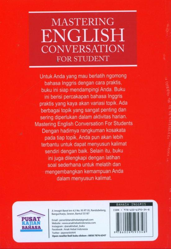 Cover Belakang Buku Mastering English Conversation For Student