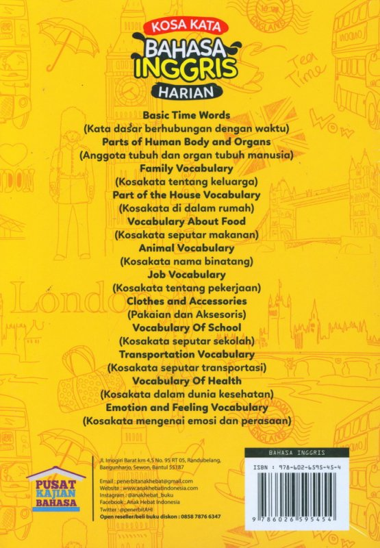 Cover Belakang Buku Kosa Kata Bahasa Inggris Harian