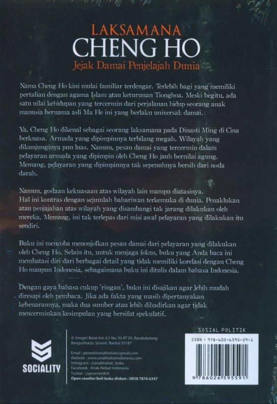 Cover Belakang Buku Laksamana Cheng Ho: Jejak Damai Penjelajah Dunia