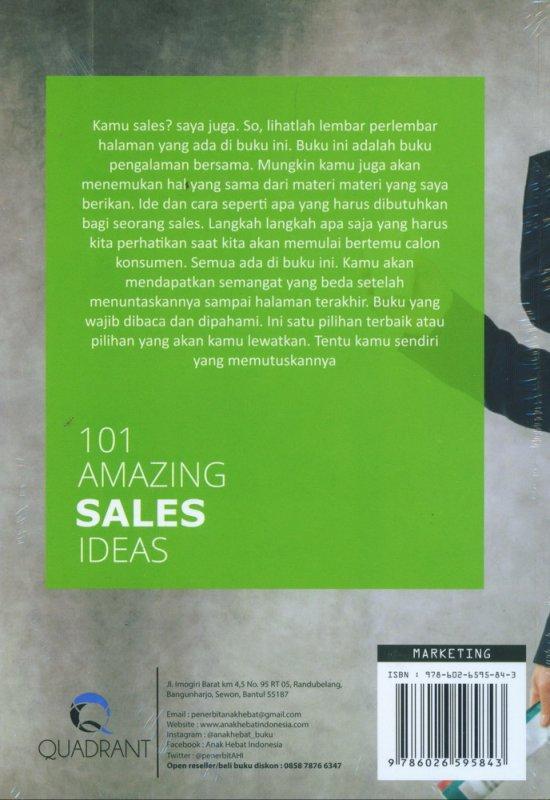 Cover Belakang Buku 101 Amazing Sales Ideas