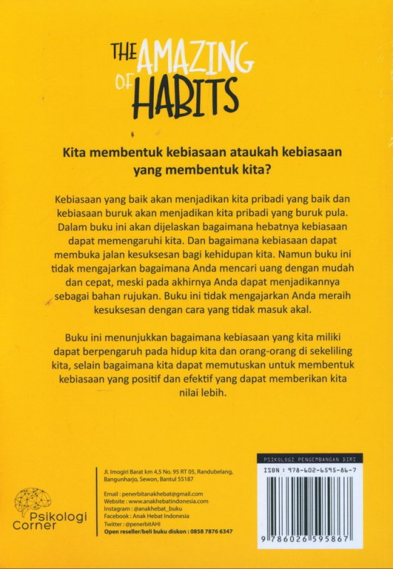 Cover Belakang Buku The Amazing of Habits