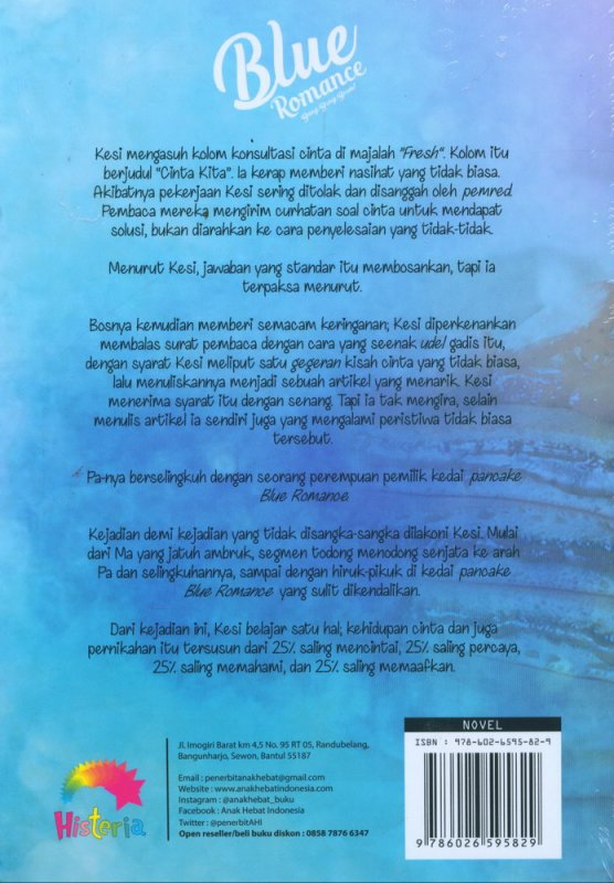 Cover Belakang Buku Blue Romance Bang, Bang, Boom