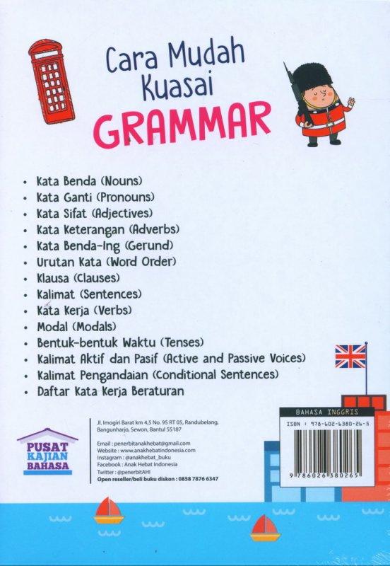 Cover Belakang Buku Cara Mudah Kuasai Grammar