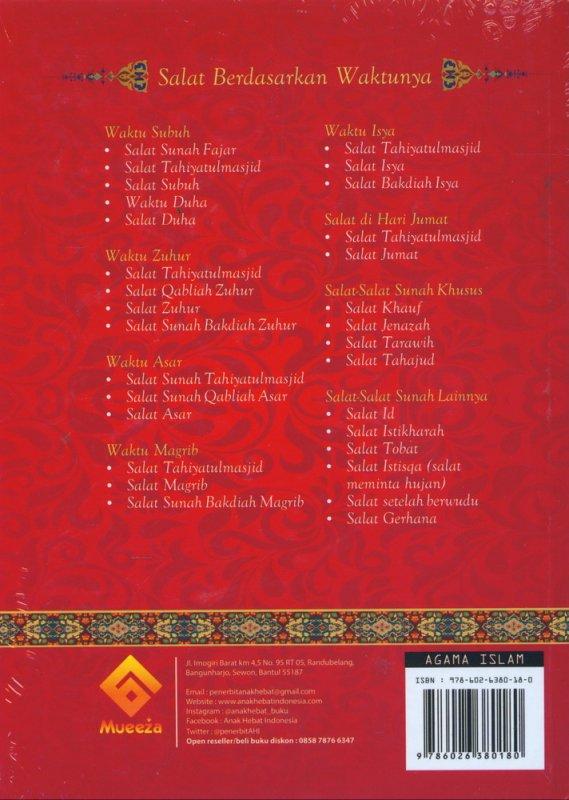 Cover Belakang Buku Panduan Lengkap Shalat Wajib & Sunnah serta Doa Sehari-hari