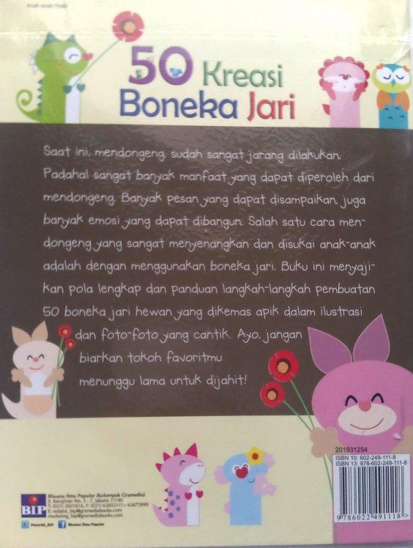 Cover Belakang Buku 50 Kreasi Boneka Jari (Disc 50%)