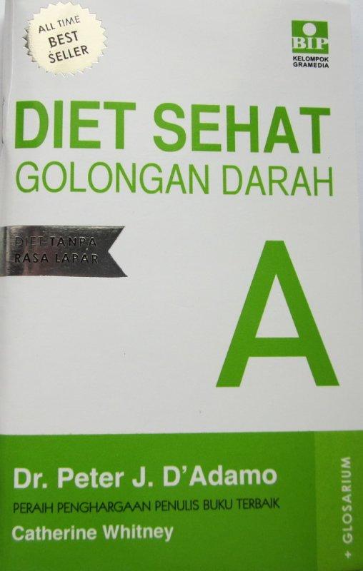 Cover Buku Diet Sehat Golongan Darah A