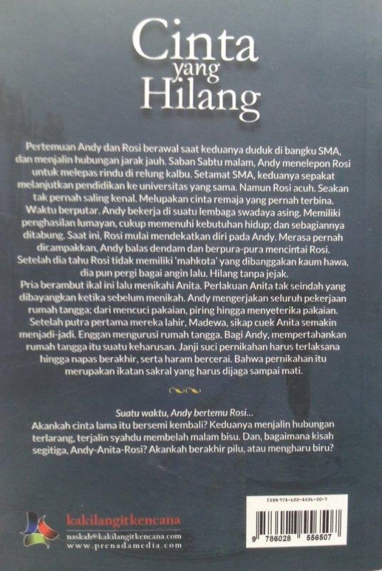 Cover Belakang Buku Cinta yang hilang (Disc 50%)