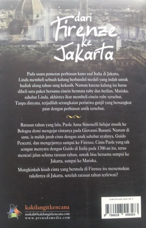Cover Belakang Buku Dari Firenze ke Jakarta (Disc 50%)