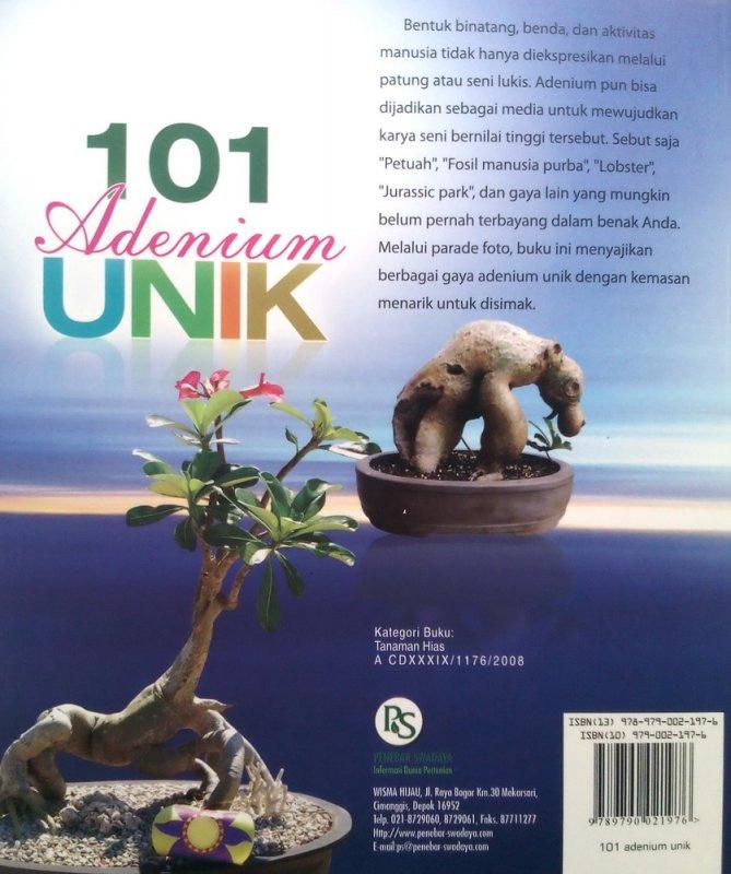 Cover Belakang Buku 101 Adenium Unik (Disc 50%)