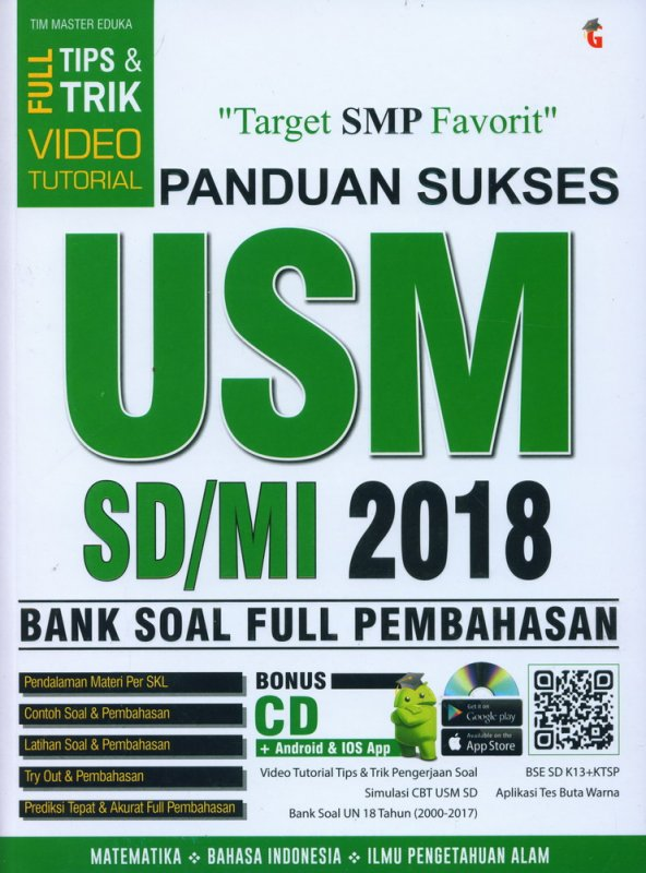 Cover Buku Panduan Sukses USM SD/MI 2018 FULL PEMBAHASAN