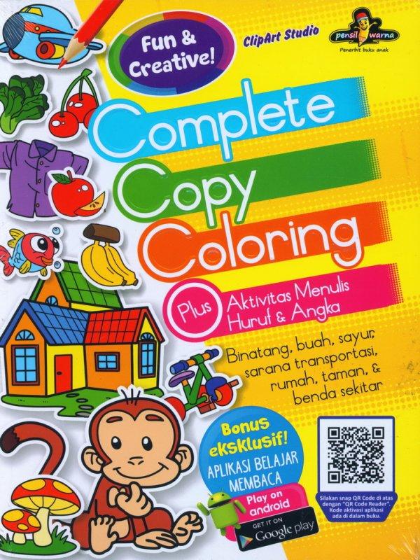 Cover Buku Complete Copy Coloring Plus Aktivitas Menulis Huruf & Angka