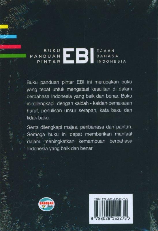 Cover Belakang Buku Buku Panduan Pintar EBI (Ejaan Bahasa Indonesia)