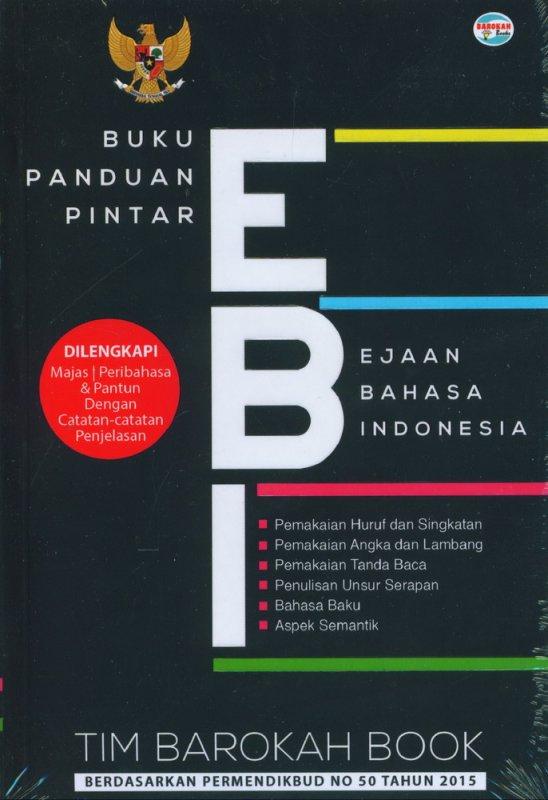 Cover Buku Buku Panduan Pintar EBI (Ejaan Bahasa Indonesia)