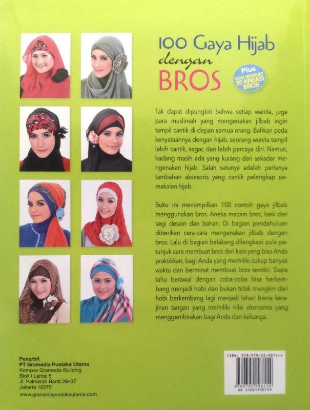 Cover Belakang Buku 100 gaya hijab dengan bros (Disc 50%)