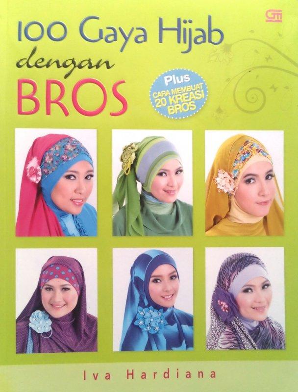 Cover Buku 100 gaya hijab dengan bros (Disc 50%)
