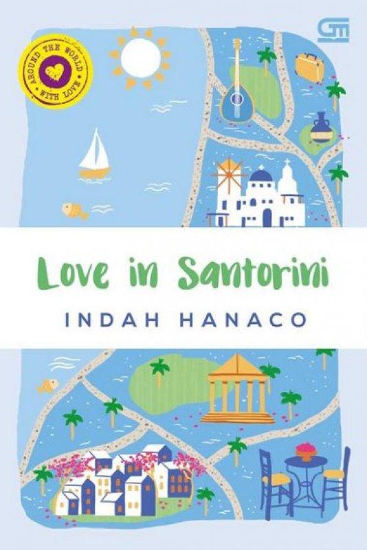Cover Buku Love In Santorini