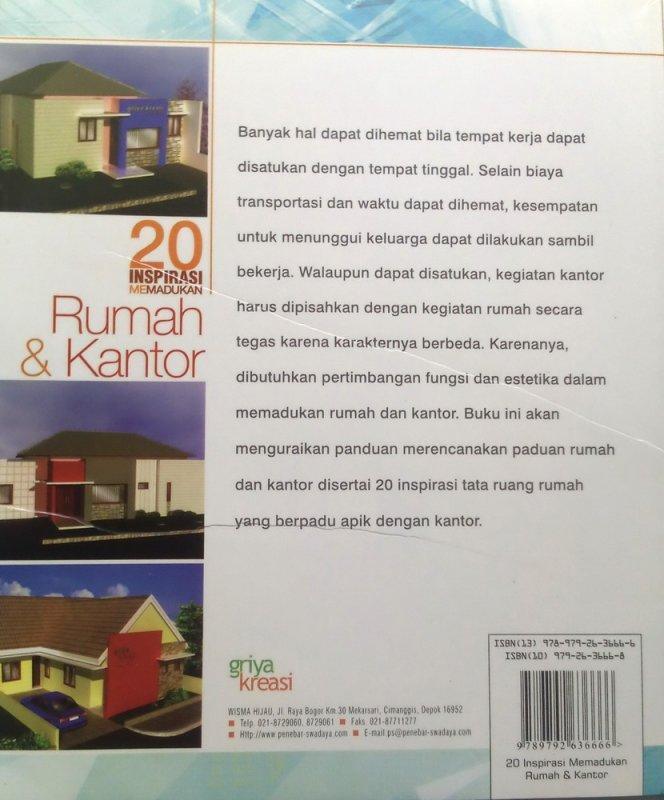 Cover Belakang Buku 20 Inspirasi Memadukan Rumah+Kantor (Disc 50%)