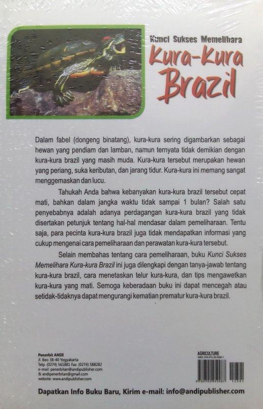 Cover Belakang Buku Kunci Sukses Memelihara Kura-kura Brazil (Disc 50%)