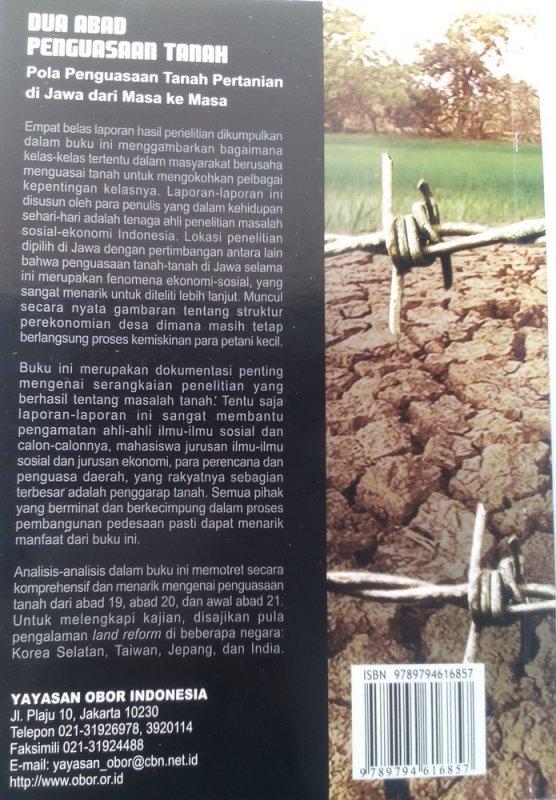 Cover Belakang Buku Dua Abad Penguasaan Tanah (Edisi Revisi) (Disc 50%)