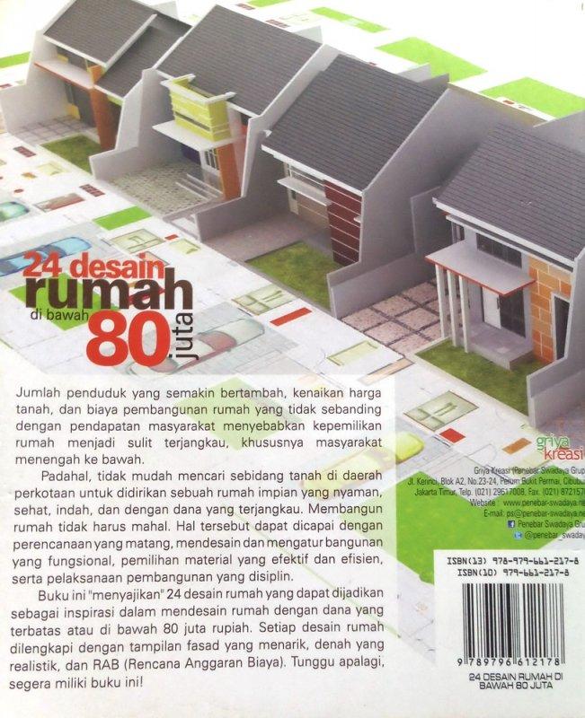 Cover Belakang Buku 24 Desain Rumah di Bawah 80 Juta (Disc 50%)