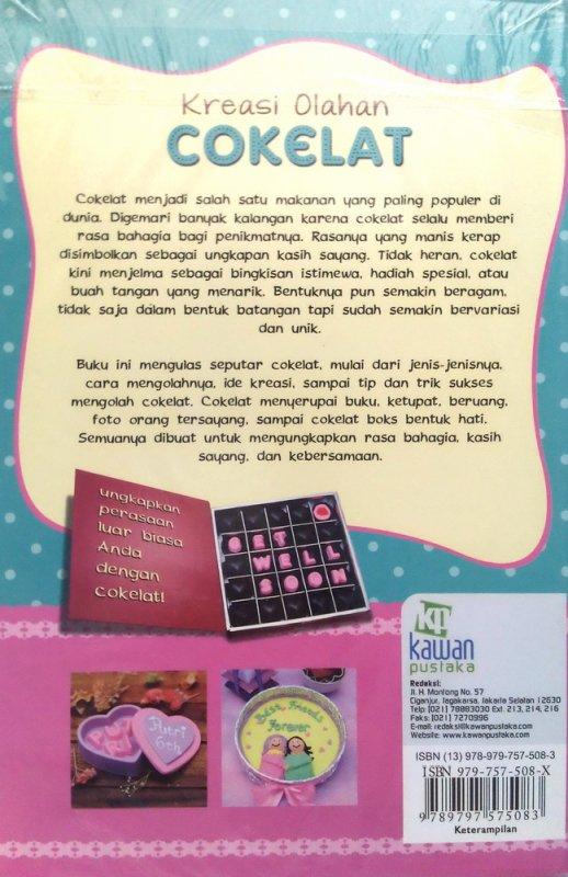 Cover Belakang Buku Kreasi Olahan Cokelat (Disc 50%)