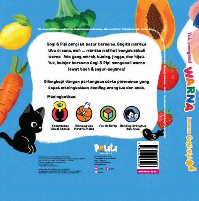 Cover Belakang Buku Yuk Mengenal Warna Bersama Goyi Pipi Free Gantungan Kunci Karet goyi/pipi [Pre-Order]