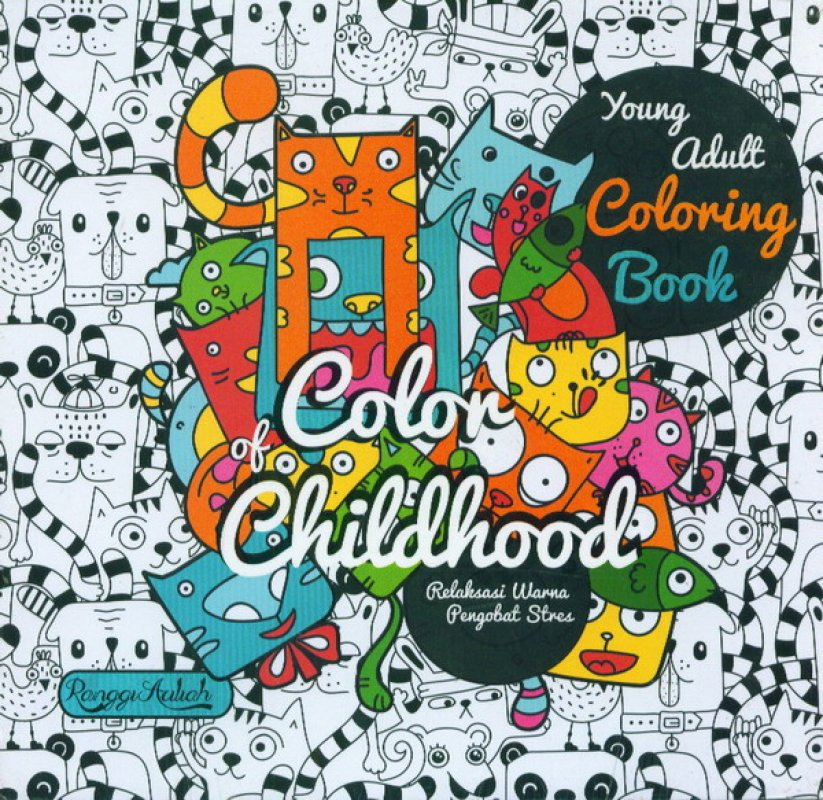 Cover Buku Young Adult Coloring Book: Color of Childhood (bk)