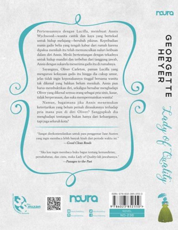 Cover Belakang Buku Lady of Quality